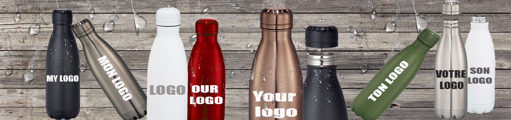 Promotional stainless steel water bottles custom printed with your logo