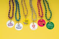 Mardi Gras Beads - Beads with printed disk