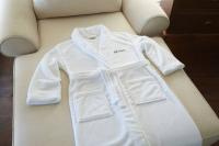 Plush Lounge Robe - White - S/M