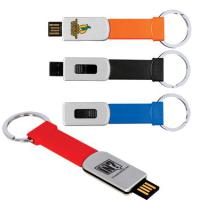 Key Chain USB Memory Flash Drive - 2GB