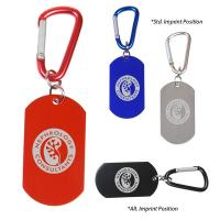 Dog Tag on Carabiner