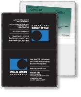 "Vinyl Wallet Liability & Registration holder, open size (4.5"" x 6"") closed size (4.5"" x 3""). Screen-printed"