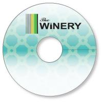 "Wine Glass Tag .015 White PVC Plastic 2.7"" circle Full color & write-on wipe-off varnish"