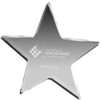 "Clear Star Paperweight 3/8"" Acrylic (5"" x 5"") Laser engraved"