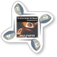 Golf Starter - .020 white PVC plastic; Four color process both sides included