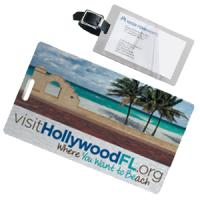 4 Color Process Brushed Aluminum Kwik-Seal® Luggage Tag