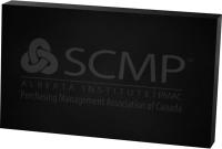"Black Rectangle Paperweight 3/4"" Acrylic (3"" x 5"") Laser Engraved"