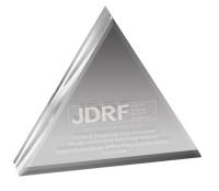 "Clear Triangle Paperweight 3/4"" Acrylic (4"" x 4"") Laser Engraved"