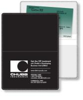 "Econo White Wallet Liability & Registration holder, open size (4.5"" x 6"") closed size (4.5"" x 3"") screen-printed"