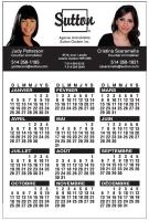 "14 pt Card stock Calendars with Magnetic Back (4"" x 6"") Four color process on front and back"