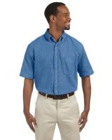 Harriton® Men's 6.5 oz./yd2 Short-Sleeve Denim Shirt