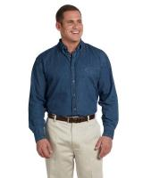 Harriton® Men's 6.5 oz./yd2 Long-Sleeve Denim Shirt