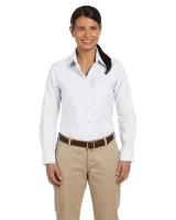 Harriton® Ladies' Long-Sleeve Oxford with Stain-Release