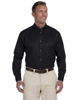 Harriton® Men's Easy Blend TM Long-Sleeve Twill Shirt with Stain-Release