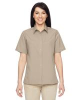Harriton® Ladies' Advantage Snap Closure Short-Sleeve Shirt