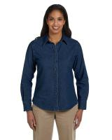 Harriton® Ladies' 6.5 oz./yd2 Long-Sleeve Denim Shirt
