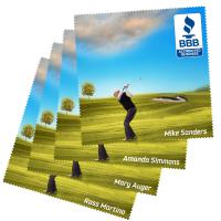 "Microfiber Lens Cloth - Golf Theme - 4"" X 4"""