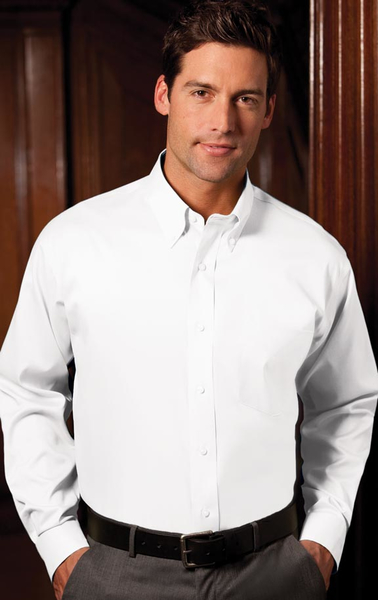 Men 39 S Button Down Collar White Concept Plus