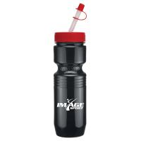 26 oz Jogger Bottle with Straw Tip Lid - Solid Colors