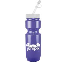 22oz Bike Bottle with Straw Tip Lid