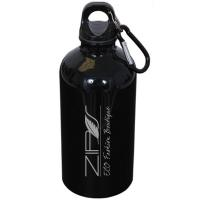 500 ml (17 oz.) STAINLESS STEEL WATER BOTTLE WITH CARABINEER