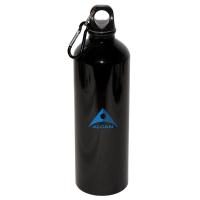 750 ML (25 OZ.) ALUMINUM WATER BOTTLE WITH CARABINEER