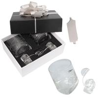 TILTED GLASSES WITH ICE ROCKS GIFT SET