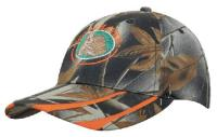Leaf Print Camouflage With Laminated Two Tone Peak