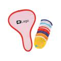 Foldable/Collapsible Flying Disc Fan With Pouch - Red