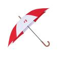Wooden Umbrella - Red and White