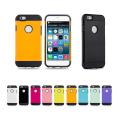 "Hybrid iPhone 6 (4.7"") Armor Slim Silicone Case, Shockproof - Blue"