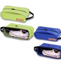 Waterproof Travel Shoe, Toiletry Bag with Window - Blue