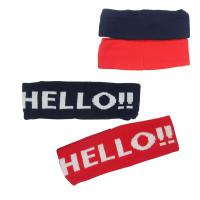 Acrylic Headbands Knitted - Red