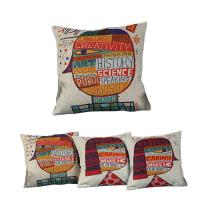 Print Pillows with Covers - Green