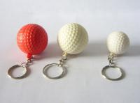 Golf Ball Keychain - White