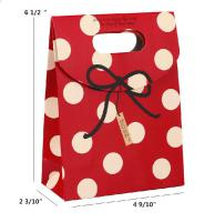 Paper Gift Bag, Polkadot - Grey