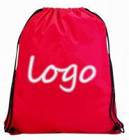 Sport Drawstring Backpack, 420T Polyester - Red