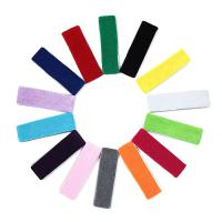100% Cotton Sport Headband/Wristband - Black