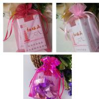 Christmas Gift Wrap Organza Bags - Pink