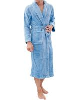 Custom Polar Fleece Robe - Grey