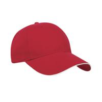Constructed Mid-Weight Brushed Cotton Sandwich Peak Cap