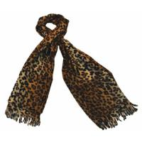 Fleece Pocket Scarf With Print