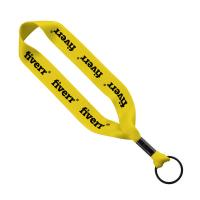 "3/4"" Polyester key Chain with Metal Crimp"