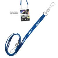 "3/8"" Recycled Econo Dual Attachment Lanyard - Ocean Shipping"
