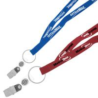 "3/8"" Recycled Econo Lanyard - Ocean Shipping"