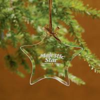 Star Jade Glass Ornament - Etched Imprint