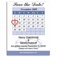 Calendar Save the Date Magnet - .030 Thickness