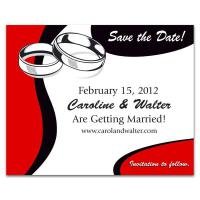 Wedding Rings Save the Date Magnet - .030 Thickness
