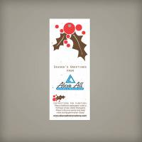 Large 100% Plantable Holiday Gift Tags - Holly