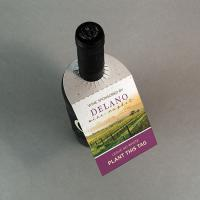 Seed Paper Wine Bottle Tag Without Fold